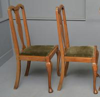 Set of Four 1920s Queen Anne Style Walnut Dining Chairs (5 of 16)
