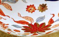Large Late 19th Century Imari Guangxu Porcelain Fish Bowl (5 of 8)