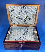 George III Rosewood Tunbridge Ware Box with Specimen Wood Inlay (13 of 15)