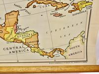 """Large University Chart """"Physical Map of North America"""" by Bacon (4 of 5)"""