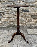 Antique Georgian Oak Candle Table (5 of 12)