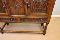 Antique Carved Oak Cupboard Side Table (8 of 14)
