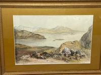 19th Century Scottish Highlands Watercolour Loch Kishorn By William Leighton Leitch (4 of 36)