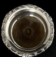 Pair of Antique Silver Plate on Copper Bottle Coasters (5 of 5)