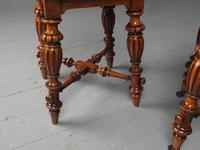 Antique Pair of Red Walnut Stools (7 of 11)