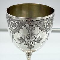 Antique Victorian Sterling Silver Wine Goblet London 1863 Henry Holland (7 of 8)