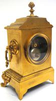 Fine Antique French 8-day Striking Mantel Clock - Sought Solid Bronze Ormolu Case (7 of 11)