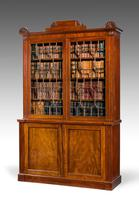 Regency Period Mahogany Two Door Bookcase