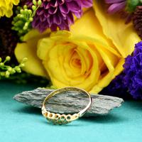 The Antique Edwardian 1904 Five Diamond Gold Ring (5 of 5)