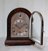 Burr Walnut Arch Top Bracket Clock (3 of 11)