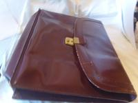 Vintage Omega Watches Official Document Wallet 1970s Large Burgundy Leatherette (6 of 6)
