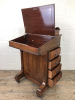 Late Victorian Inlaid Rosewood Davenport Desk (14 of 17)