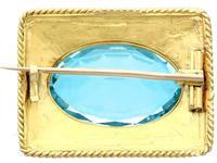 10.46ct Aquamarine & 18ct Yellow Gold Brooch - Antique c.1900 (5 of 9)