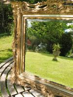 Gilded Rococo Style Wood Mirror Bevelled Glass 1900 (5 of 12)