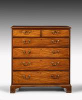 George III Period Mahogany Straight Fronted Chest of Drawers (2 of 3)