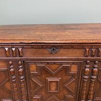 17th Century Oak Geometric Moulded Antique Coffer (4 of 7)