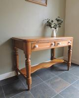 Fabulous Antique Victorian Pine Hall Side Table with Drawers