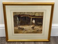 "Watercolour ""Tending The Sheep"" By Bertha Rhodes RA Rca Exh 1905 -1912 (10 of 41)"