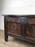 Small 18th Century Carved Oak Coffer (10 of 13)