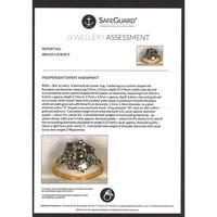 The Antique 3 Carat Diamond Cluster Ring (6 of 6)