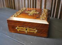 Antique Religious Walnut & Brass Box (3 of 6)