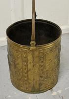 Embossed Brass Coal Bucket with a Tea Clipper Sea Scene (3 of 5)