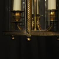 French Gilded Bronze Triple Light Lantern (8 of 10)