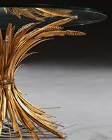 Mid 20th Century Gilt Metal Wheat Sheaf Table With Glass Top (4 of 7)