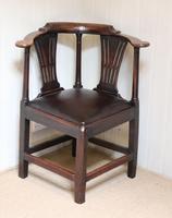 George III Country Elm Corner Chair (4 of 5)