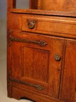 Attractive Early 20th Century Continental Oak Dresser & Rack (5 of 6)