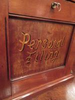 Antique Walnut Three Drawer Filing Cabinet (3 of 8)