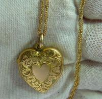 Antique Gold Hallmarked Locket 1906 with Necklace (2 of 11)