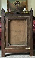 Superb 19th Century Old Master Biblical Christ Oil Portrait Painting - Gothic Oak Frame (16 of 17)