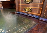 Maple & Co - Stunning Edwardian Marquetry Rosewood Library Writing Table Desk (8 of 15)