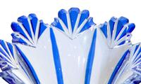 Pair of Blue Flash Overlay Glass Vases (5 of 6)