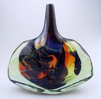 Good Maltese Mdina Art Glass Fish / Axe Head Vase Signed Dobson c.1978 (3 of 6)