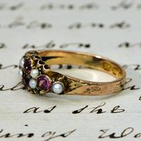 The Antique Victorian 1897 Pink Tourmaline & Seed Pearl Ring (2 of 4)