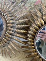 Pair of Spanish Gilt Brass Wall Mirrors (4 of 7)