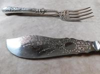 19th Century Martin Hall & Co Silver Plate Fish Servers (8 of 11)