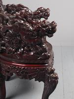 Antique Chinese Carved Hardwood Armchair (13 of 16)