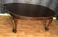 Edwardian Mahogany Extending Dining Table Two Leaves (16 of 16)