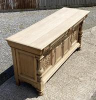 Wonderful Art Nouveau Bleached Oak Sideboard (8 of 26)