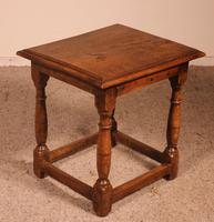 French Stool in Oak - 17th Century (5 of 10)