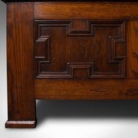 Large Antique Blanket Coffer, English, Oak, Chest, Window Seat, Edwardian, 1910 (11 of 12)