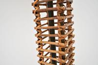 1970's Vintage Bamboo & Suede Floor Lamp (4 of 8)