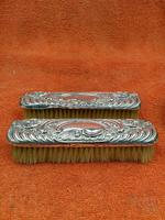 2 x Antique Sterling Silver Hallmarked Clothes Brush 1905 Williams (birmingham) Ltd (8 of 8)