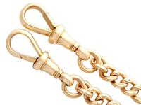 9ct Yellow Gold Double Albert Watch Chain - Antique c.1910 (7 of 12)
