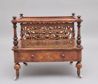 19th Century Burr Walnut Canterbury of Nice Proportions (3 of 10)