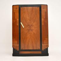 Art Deco Figured Walnut Compactum Wardrobe (7 of 11)