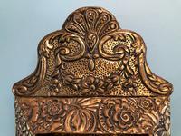 Antique Repousse Detail Cushion Mirror (4 of 10)